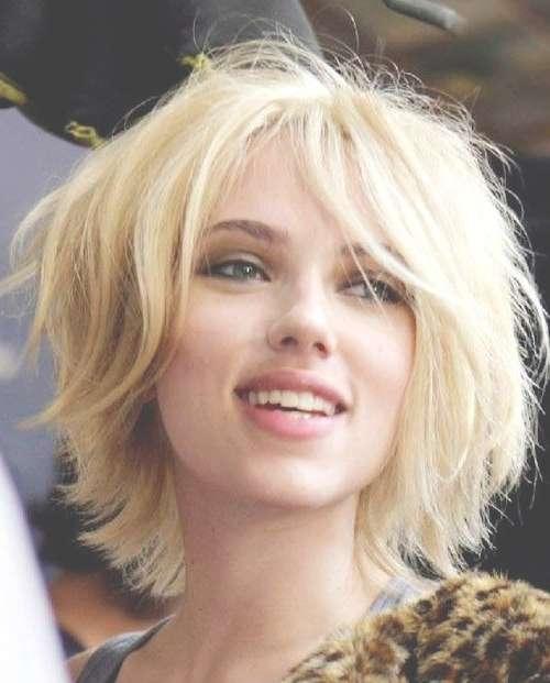 Scarlett Johansson Short Blonde Hair – Popular Haircuts With Regard To 2018 Scarlett Johansson Medium Haircuts (View 7 of 25)
