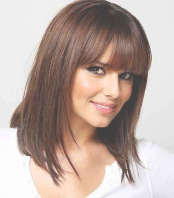 Several Brilliant Ideas Medium Length Hairstyles With Bangs | Crea Within Most Popular Medium Hairstyles For Fine Hair With Bangs (View 23 of 25)