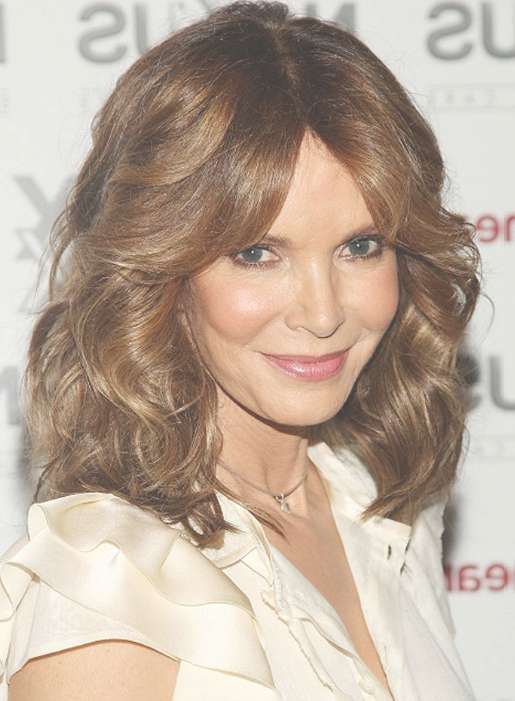 Sexy Layered Center Part Shoulder Length Hairstyles 2013 Inside Newest Wavy Curly Medium Hairstyles (View 20 of 25)