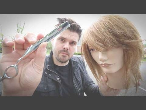 Shag Haircut Tutorial – Medium Length Layered Haircut With A Razor For Newest Razor Cut Medium Hairstyles (View 16 of 25)