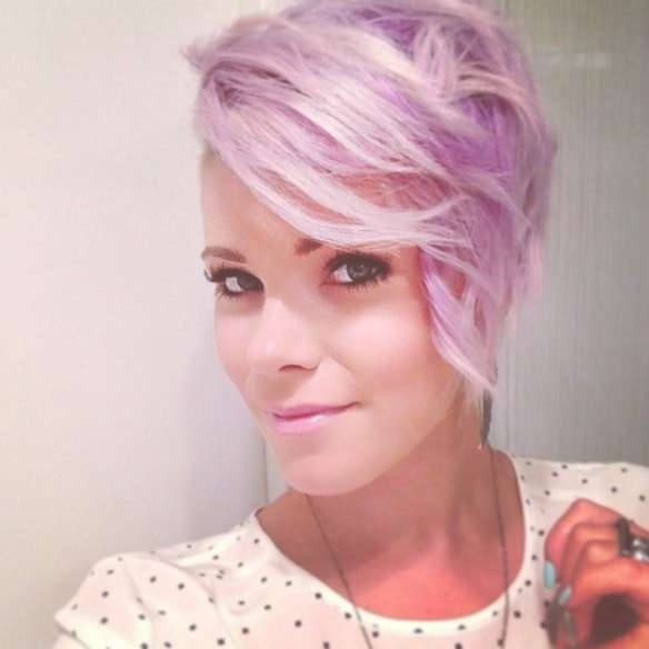 Short And Medium Hairstyles In Pink! With Regard To 2018 Pink Medium Haircuts (View 25 of 25)