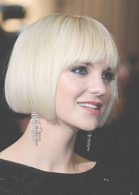 Short Blunt White Bob Hairstyle – Hairstyles Weekly Throughout Blunt Cut Bob Haircuts (View 19 of 25)
