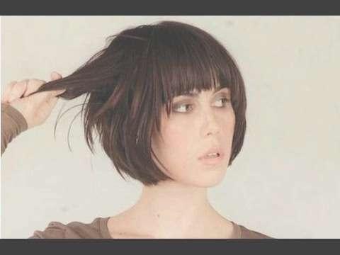 Short Bob Hairstyle With Fringe – Youtube Within Short Bob Hairstyles With Bangs (View 5 of 25)