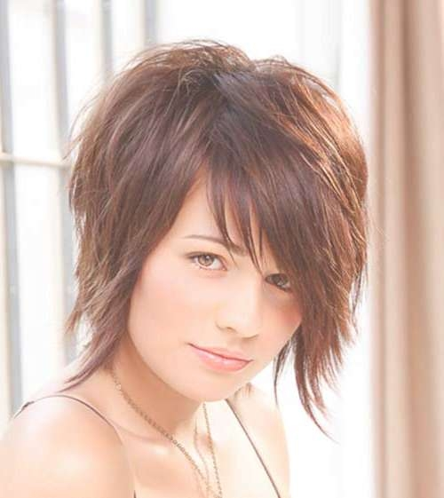 Short Hair For Round Faces 2014 – 2015   Short Hairstyles 2016 With Most Recent Edgy Medium Haircuts For Round Faces (View 25 of 25)