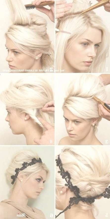 Short Hair Hairstyle Idea! Love This Updo!! – The Tres Chic Pertaining To Bob Hair Updo (View 25 of 25)