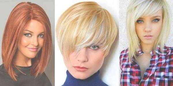 Short Haircut For Round Face With Unique Hair Accessories Regarding 2018 Medium Haircuts For Round Faces And Thick Hair (View 12 of 25)