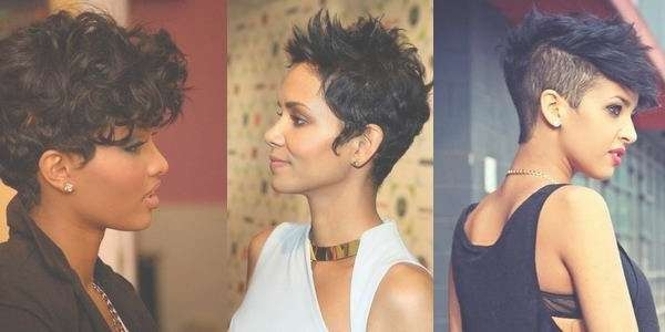 Short Hairstyles For African American Women With Round Faces For Current Medium Haircuts For Black Women With Round Faces (View 18 of 25)