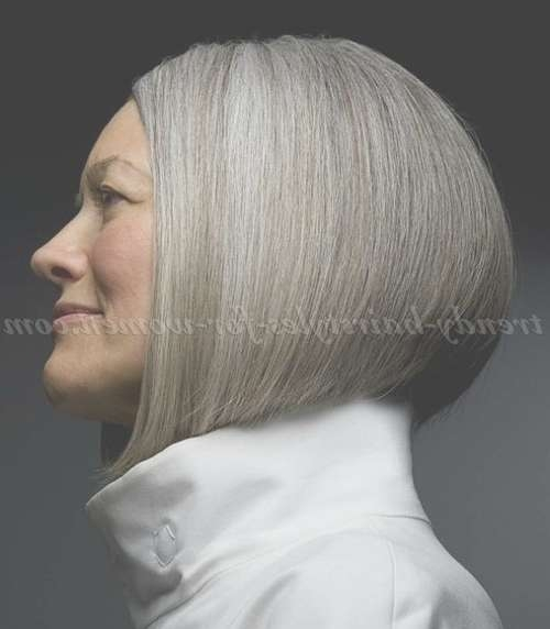 Short Hairstyles Over 50 – Classic Bob Haircut For Grey Hair Intended For Classic Bob Hairstyles (View 24 of 25)