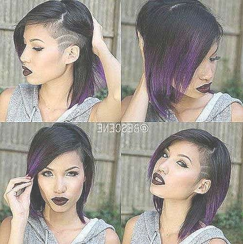 Short Hairstyles Part Shaved Short Hairstyles Awesome 25 Best With Regard To 2018 Medium Hairstyles One Side Shaved (View 14 of 15)