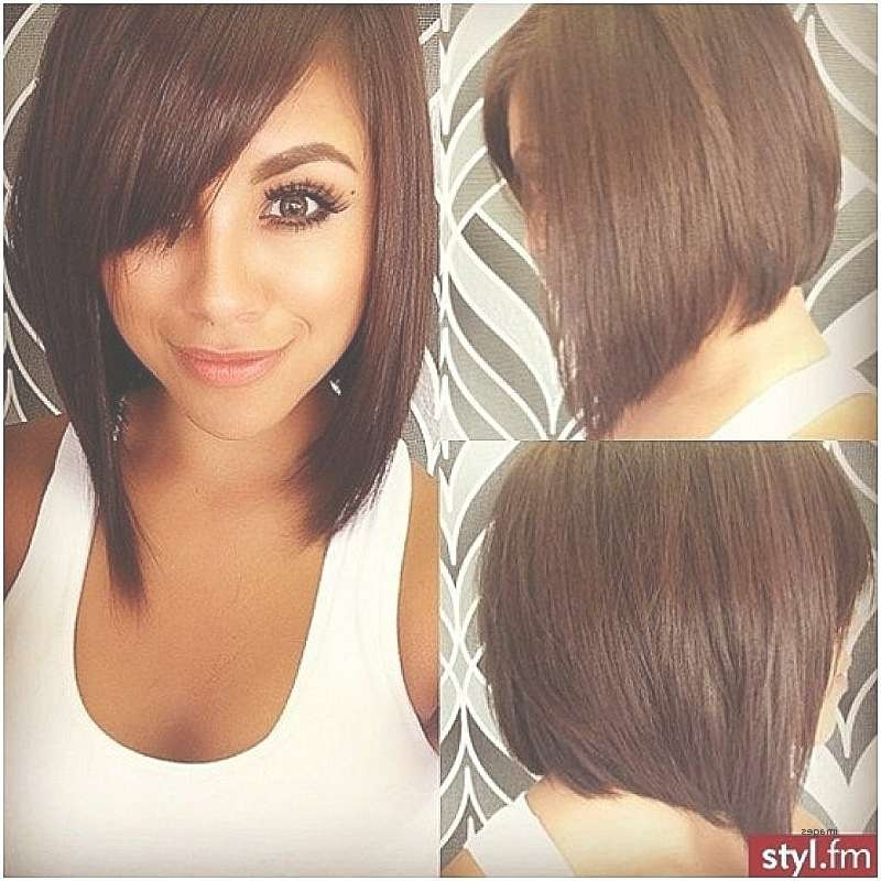 Short Hairstyles Short Angled Bob Hairstyles Round Faces Unique For Unique Bob Hairstyles (View 19 of 25)