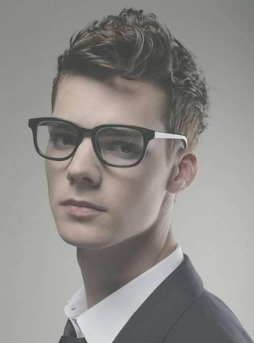 Displaying Photos of Medium Haircuts For People With Glasses (View 3 ...