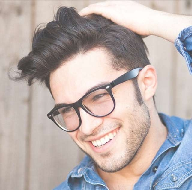 Short Hairstyles With Glasses For Men | Haircuts, Hairstyles 2017 Pertaining To Latest Medium Haircuts For Glasses Wearer (View 10 of 25)