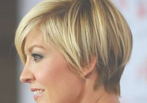 Short Layered Bob Haircut Worn Side Parting Displays Sweet Regarding Short Layered Bob Hairstyles (View 22 of 25)