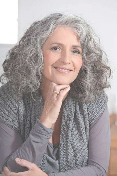 2019 Popular Medium Haircuts For Older Women With Curly Hair