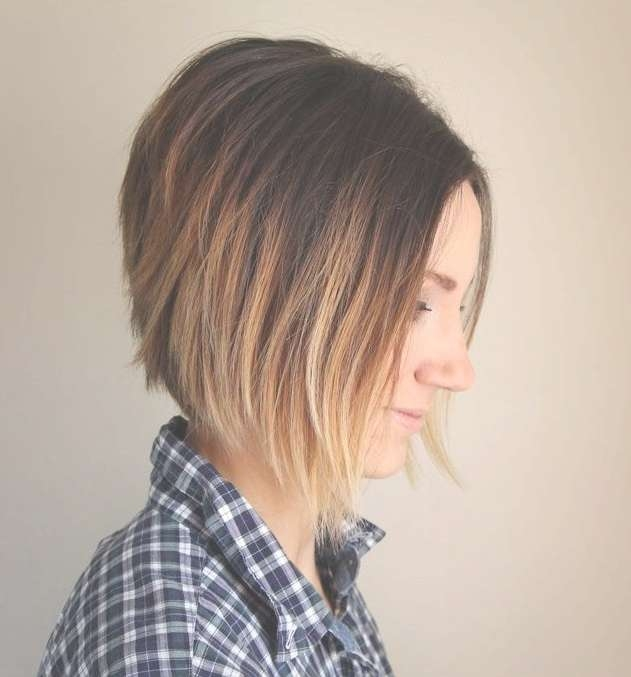 Short Ombre A Line Bob Haircut – Hairstyles Weekly For Line Bob Haircuts (View 12 of 25)