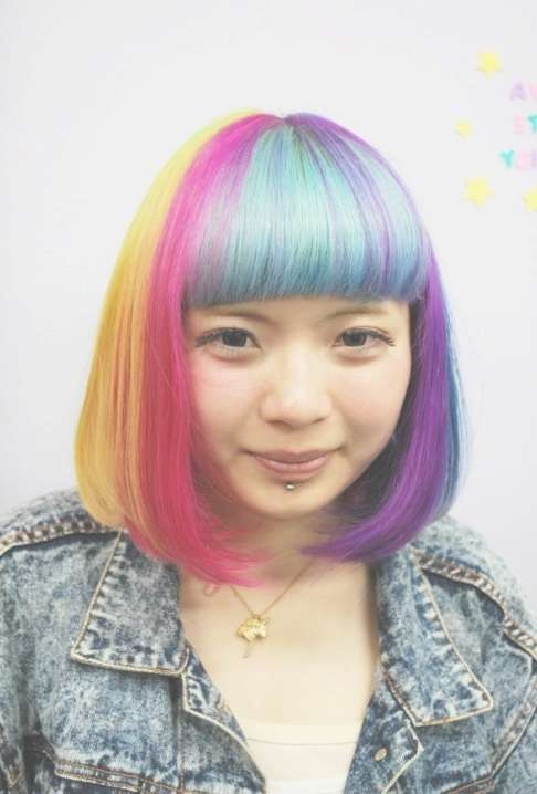 Short Rainbow Bob Hairstyle 2013 – Hairstyles Weekly Within Bob Hairstyles For Girls (View 12 of 25)
