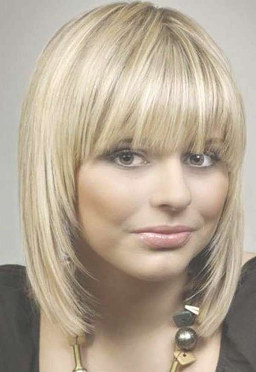 Short Straight Hairstyles With Bangs   Short Hairstyles 2016 With Regard To Latest Medium Haircuts With Straight Bangs (View 15 of 25)