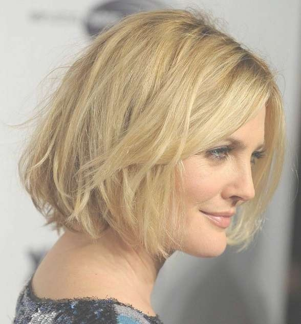 Short To Medium Hairstyles For Fine Hair Pertaining To Recent Medium Haircuts For Round Faces And Thin Hair (View 7 of 25)