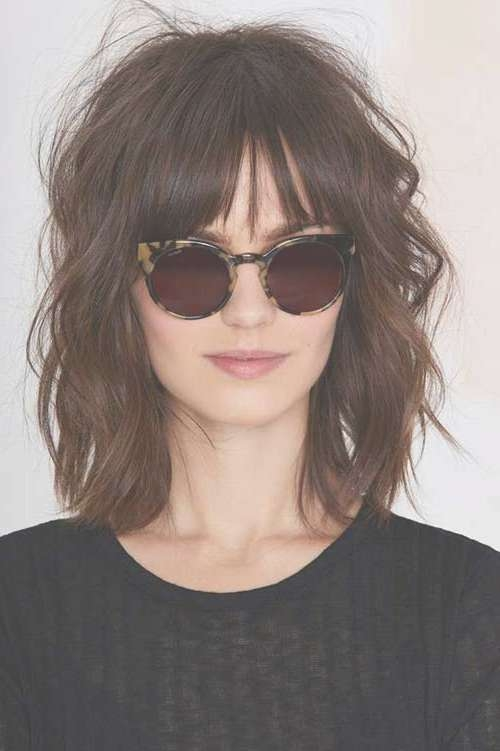 Short To Medium Hairstyles For Wavy Hair | Short Hairstyles 2016 Pertaining To Most Recently Medium Hairstyles With Short Bangs (View 10 of 25)