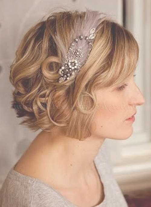 Short Wedding Hairstyles For Curly Hair – Short Wavy Wedding Intended For Most Popular Medium Hairstyles With Headbands (View 5 of 25)