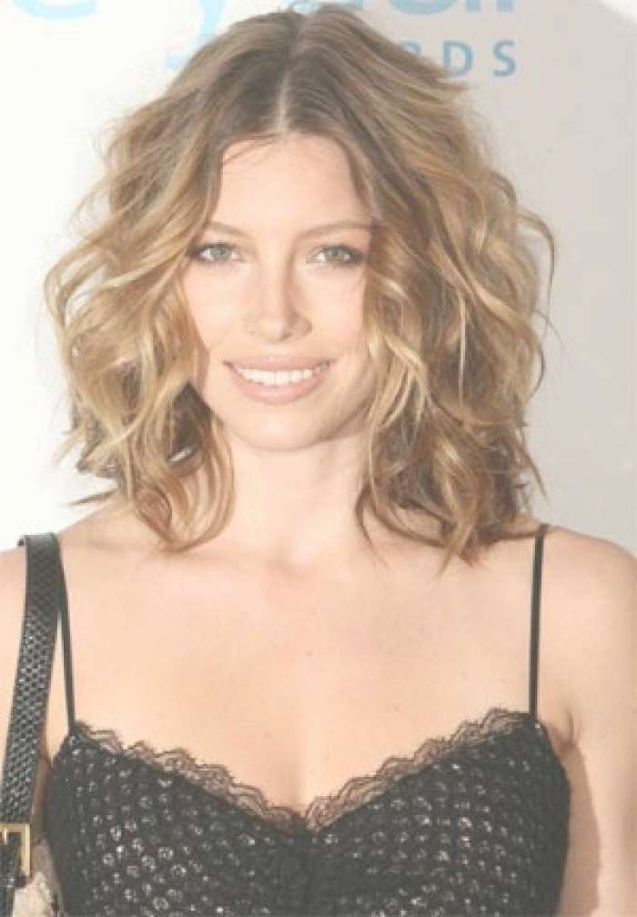 Explore Gallery Of Medium Haircuts For Thin Curly Hair Showing 7 Of