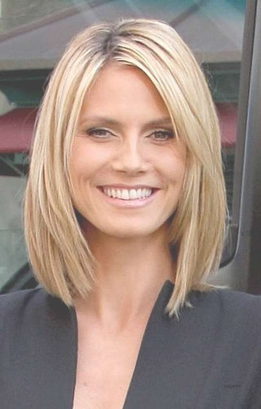 Shoulder Length Haircuts No Bangs Round Face Tags : Lovely Medium For 2018 Medium Hairstyles Without Fringe (View 20 of 25)