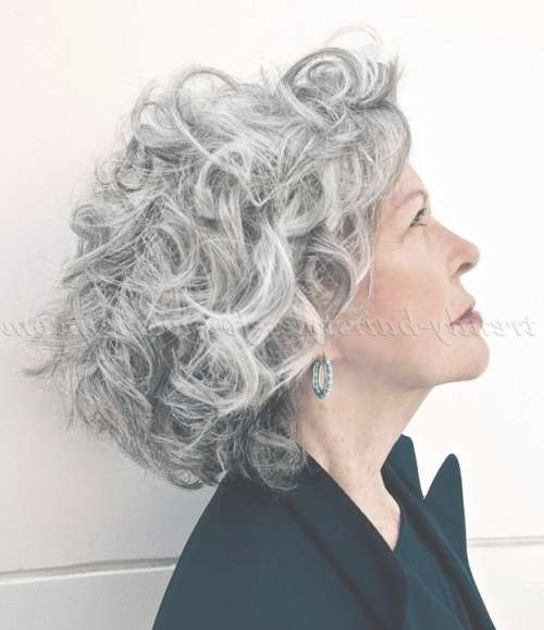 Shoulder Length Hairstyles Over 50 – Curly Hairstyle For Grey Hair With Regard To Most Recently Medium Haircuts For Grey Haired Woman (View 21 of 25)