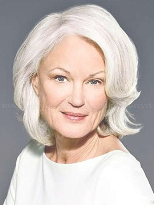 Shoulder Length Hairstyles Over 50 – Medium Length Grey Hairstyle With Most Recent Gray Hair Medium Hairstyles (View 14 of 15)