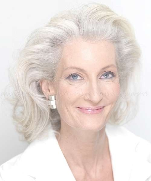 Shoulder Length Hairstyles Over 50 – Medium Length Hairstyle For Inside Recent Medium Hairstyles For Gray Hair (View 4 of 25)