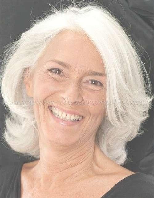 Shoulder Length Hairstyles Over 50 – Medium Length Hairstyle For Pertaining To 2018 Medium Hairstyles For Grey Hair (View 6 of 15)
