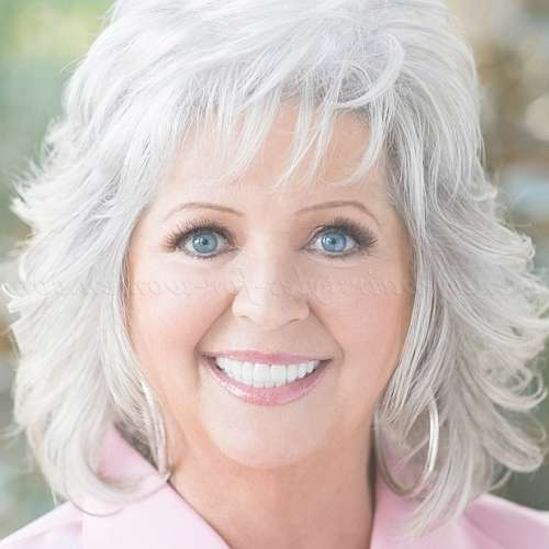 Shoulder Length Hairstyles Over 50 – Mid Length Hairstyle For Grey In Most Popular Medium Haircuts For Women With Grey Hair (View 8 of 25)