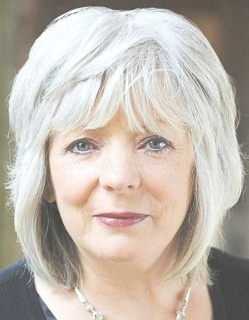 Shoulder Length Hairstyles Over 50 – Shoulder Length Layered Regarding Most Up To Date Medium Haircuts For Women With Grey Hair (View 5 of 25)