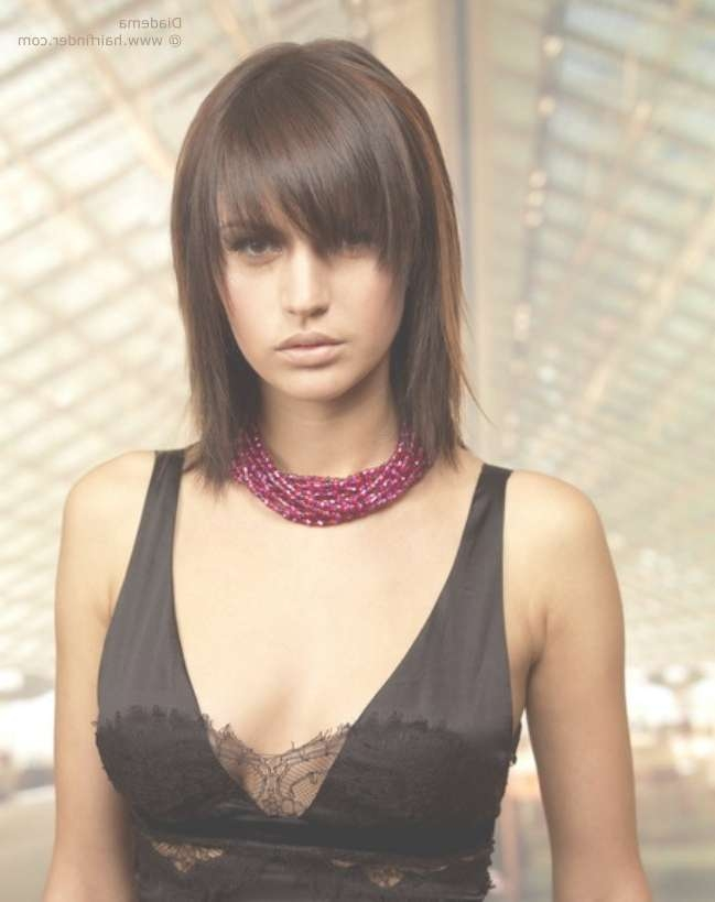 Shoulder Length Shag With A Long Textured Fringe That Almost Hides Regarding Current Full Fringe Medium Hairstyles (View 9 of 25)
