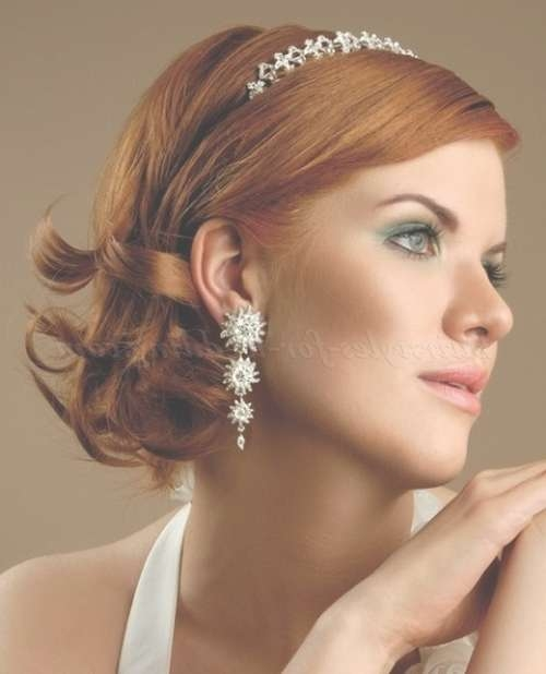 Shoulder Length Wedding Hairstyles – Medium Length Bridal Intended For Current Medium Hairstyles For Brides (View 22 of 25)