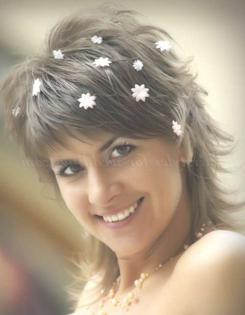 Shoulder Length Wedding Hairstyles – Medium Length Bridal Pertaining To Most Recent Medium Hairstyles For Brides (View 23 of 25)