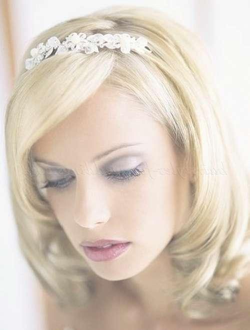 Shoulder Length Wedding Hairstyles – Medium Length Bridal With Regard To Latest Brides Medium Hairstyles (View 19 of 25)