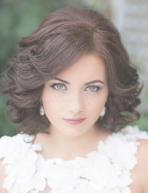 Shoulder Length Wedding Hairstyles – Wavy Wedding Hairstyle For Intended For Recent Medium Hairstyles For Brides (View 19 of 25)