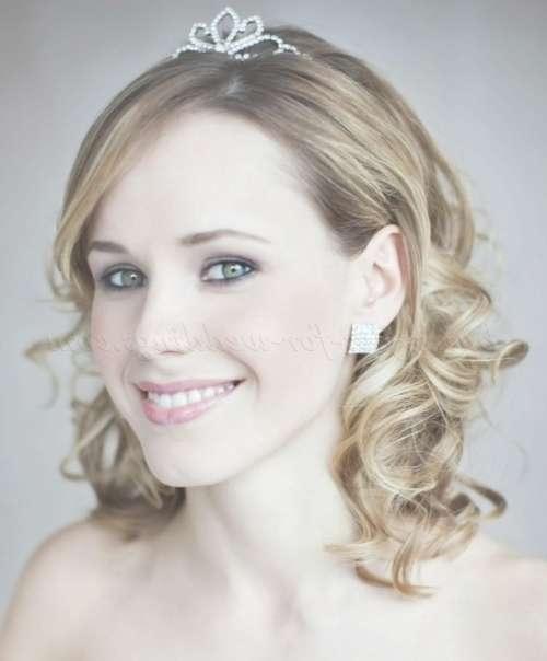 Shoulder Length Wedding Hairstyles – Wavy Wedding Hairstyle Medium For Most Popular Brides Medium Hairstyles (View 21 of 25)