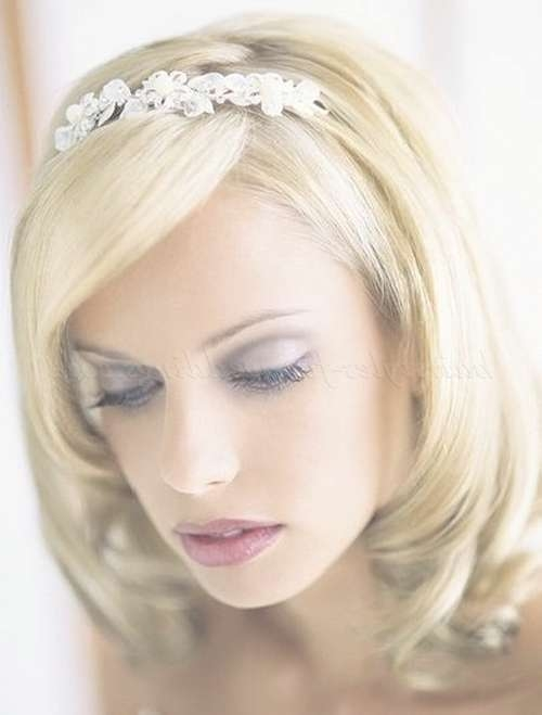 Shoulder Length Wedding Hairstyles – Wedding Hairstyle Medium Pertaining To Best And Newest Medium Hairstyles For Brides (View 25 of 25)