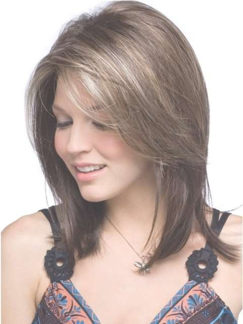 Side Swept Bangs Hairstyle Trends For 2017 – Haircuts And Intended For 2018 Medium Hairstyles With Side Bangs And Layers (View 6 of 25)