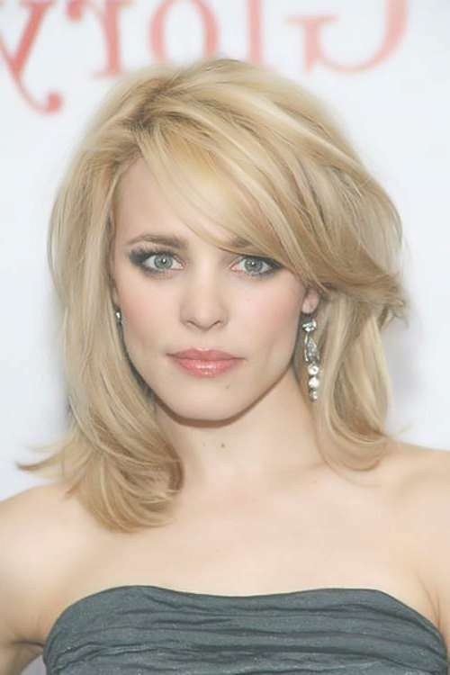 Side Swept Bangs To Look Younger – Women Hairstyles In Newest Side Swept Bangs Medium Hairstyles (View 23 of 25)