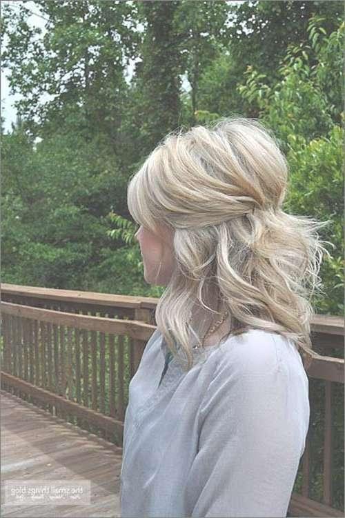 Simple Half Updo Short Hair   Hair   Pinterest   Half Updo, Updo For Most Current Half Short Half Medium Haircuts (View 22 of 25)