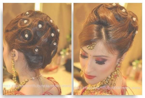 Simple Indian Hairstyles For Straight Hair Wedding | Medium Hair Regarding Most Popular Indian Bridal Medium Hairstyles (View 22 of 25)