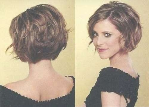 Stacked Curly Bob Haircut Short Hairstyles For Women Via | Medium For Short Bob Haircuts For Women (View 1 of 25)