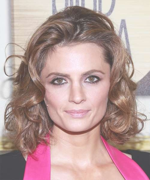 Stana Katic Hairstyles For Square Faces Intended For Most Popular Medium Haircuts For Square Jaws (View 12 of 15)