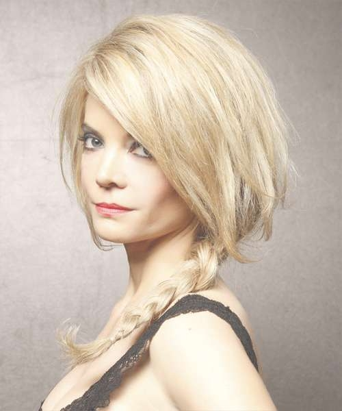 Straight Casual Half Up Braided Hairstyle – Medium Blonde (Golden With Regard To Most Current Half Short Half Medium Haircuts (View 23 of 25)