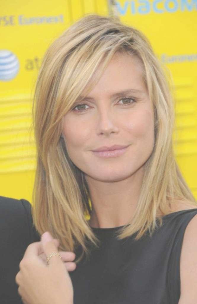 Straight Shoulder Length Haircut Hairstyles For Medium Length Hair Within Most Popular Heidi Klum Medium Haircuts (View 18 of 25)
