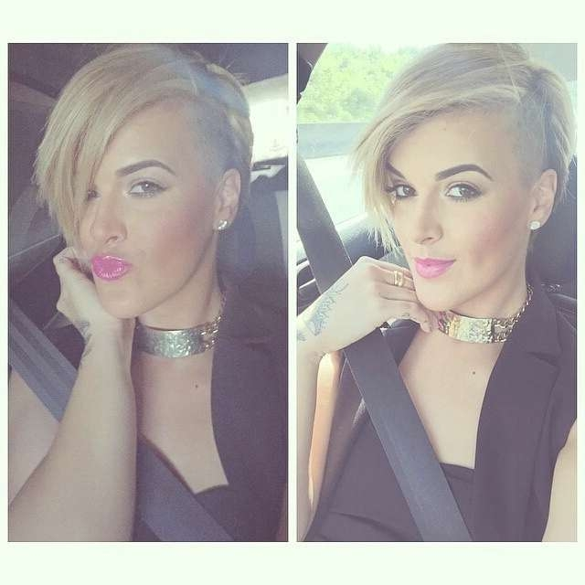 Stylish Short Bob Haircuts | Blond | Medium Hairstyles Regarding Best And Newest Medium Haircuts With Shaved Side (View 9 of 25)