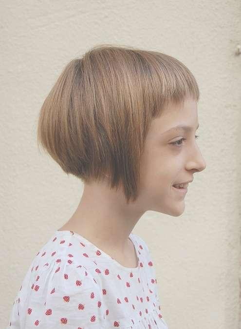 "Sugar & Spice"" Girl's Geometric Bob Hairstyle For Girls With Bob Hairstyles For Girls (View 4 of 25)"