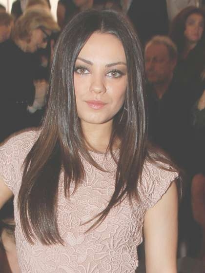 Summer Hair Mila Kunis Sleek Straight | Stylenoted Pertaining To Current Mila Kunis Medium Hairstyles (View 12 of 25)